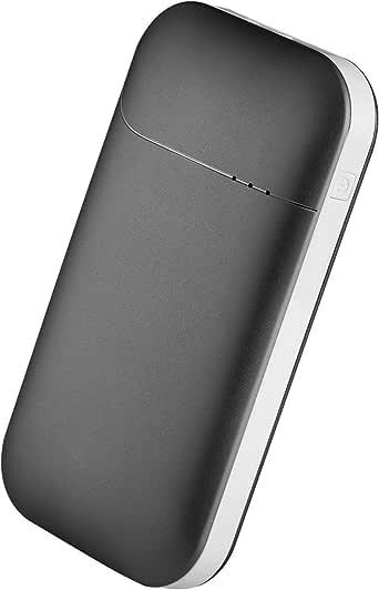 EKOOS USB充電式カイロ 電気カイロ ハンドウォーマー モバイルバッテリー機能付き 7800mAh 1台2役 男女兼用 5V/2A 3段階切り替え 過電流保護 (ブラック)