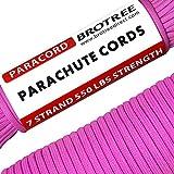 Brotree 4mm パラコード 30m テント ロープ 7芯 パラシュートコード 耐荷重250kg ガイロープ ミルスペック規格 アウトドア キャンプ サバイバル 吹雪強風対策固定 用ひも ピンク