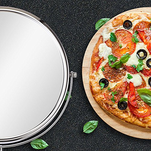 (セーディコ)Cerdeco 大型両面鏡 AmazingSize シンプルデザイン 真実の両面鏡DX 5倍拡大鏡 360度回転 卓上鏡 スタンドミラー メイク 化粧道具 鏡面250mmΦ J1002