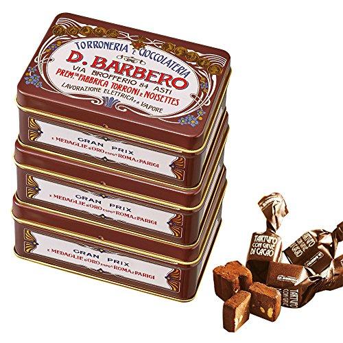 バルベロ (BARBERO) ミニ缶 トリュフ チョコレート 3缶セット 【イタリア 海外土産 輸入食品 スイーツ】