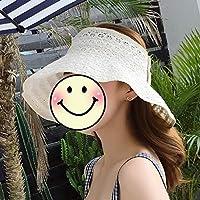 日曜日の帽子、夏の日曜日の保護折りたたみ式空のシルクハット日曜日の帽子6色任意 (色 : ベージュ)