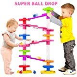 Super Ball Drop Toy, Extra Large Size Activity Tower with Ball Ramp Bridge for Educational and Fun Activity for Toddlers and