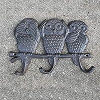 C.K.H. ヨーロピアンレトロ鋳鉄製錬鉄フック壁掛けコートフックフックフック3フックフクロウフック。