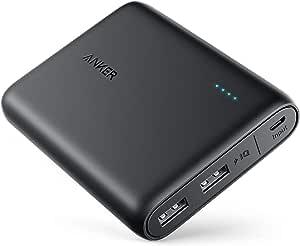 Anker PowerCore 13000 (13000mAh 2ポート 大容量 モバイルバッテリー)【PSE認証済 / PowerIQ搭載 / コンパクトサイズ】 iPhone / iPad / Xperia / Galaxy / MacBook / Android各種他対応 (ブラック)