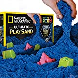 National Geographic Play Sand - 6 LBS Sand Castle Molds (Blue) - A Kinetic Sensory Activity
