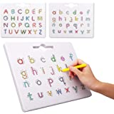 Preschool Toy Magnetic Letter Tracking Board ABC Double-Sided Magnetic Letter Drawing Board Perfect Kid Toy