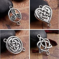 Celtic Knot Connectors 80 pc (20 of Each) Silver Tone Findings [並行輸入品]