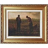 ミレー[世界の名画コレクション]『晩鐘』複製画 人物画【複製 絵画】【B2815】