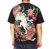 絡繰魂[からくりだましい] 鎌鼬[かまいたち]桜 刺繍 和柄Tシャツ/半袖/262359