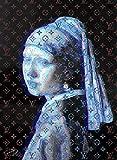 ルイ・ヴィトン キャンバスポスター Canvas Louis Vuitton × Vermeer ルイヴィトン フェルメール インテリア #sh03 STAR DESIGN A4サイズ(210×297mm)