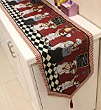 ZWJAFY-で、農村のコーヒーテーブルテーブルテーブルベッドサイド・モニタ使用可能 tablenapkin アメリカンスタイルのテーブルランナーは、 33 * 180 CM