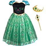 Lurwsuit Girl's Princess Dress up Costume Cosplay Short Sleeve Fancy Party Dress for Halloween Christmas