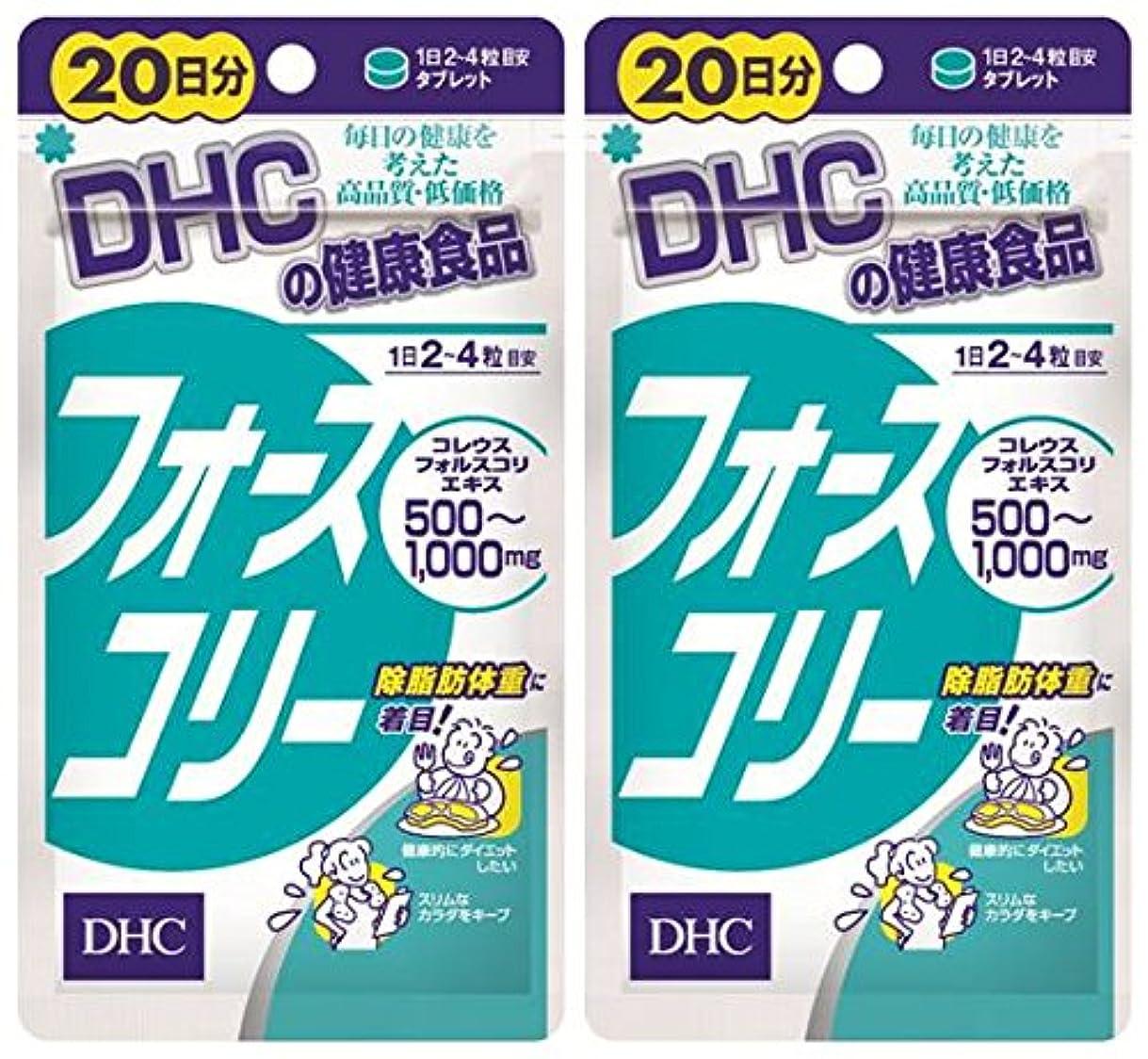 圧縮された検出する喜ぶDHC フォースコリー 20日分 80粒 ×2個セット