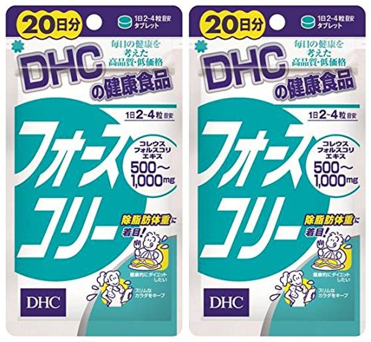 陰気クロールチャップDHC フォースコリー 20日分 80粒 ×2個セット
