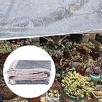 日除け- 銀製の陰の布庭/テラスのための55%の紫外線抵抗力がある、グロメットが付いている反射アルミホイルの日焼け止めカバー (Size : 3x5m)