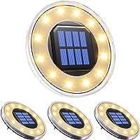 pendoo ソーラーライト 屋外 埋め込み式 水陸両用 ガーデンライト 4個セット IP68防水 太陽光パネル充電 防…