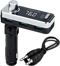 JAPAN AVE.@ 特許取得 FMトランスミッター Bluetooth 4.2 高音質 (ATSチップ搭載) SmartBC アプリ 無償提供 JA998 [メーカー1年保証]