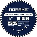 "Norske Tools NCSBP210 6-1/2"" 48T Metal Cutting Saw Blade For Steel Roofing, Metal Siding, Steel Pipe, Steel Studs & More 5/8"""