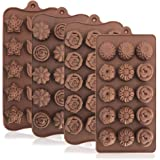 4 Pack Flower Shape Silicone Molds Chocolate Candy Mold, DanziX Silicone Mold for Wedding,Festival, Parties, DIY Enthusiasts-