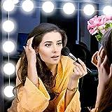 VIPMOON Vanity Mirror Lights, 5m USB Cable Hollywood Mirror Lights, 5 Lights Modes 3200K-6500K, 10 Dimmable Bulbs LED Makeup