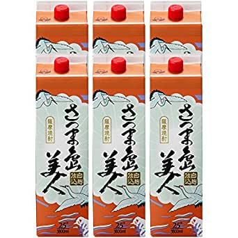 長島研醸 さつま島美人 芋 25度 パック 1800ml×6本