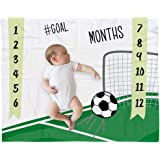"bok Baby Monthly Milestone Blanket for Newborn Boys and Girls - Perfect Weekly - Monthly - Yearly Blanket 40"" x 50"" – Sport S"