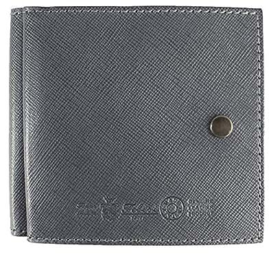 Felisi フェリージ サフィアーノ型押し エンボスレザー 二つ折り財布 910/SI(グレー) [F×グレー(C03)]