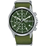 SEIKO PULSAR PM3127X1 Military Watch セイコー パルサー ミリタリー クロノグラフ パイロットウォッチ グリーン 腕時計 民間用 英国空軍 イギリス軍 RAF [並行輸入品]
