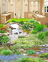 C359 巨大 3D フロアマット 1m*1m* 自然 葉っぱ 石 芝生 花 木 空 風景 景色 防音 断熱 滑り止めシート 床 壁 天井 はがせるシール