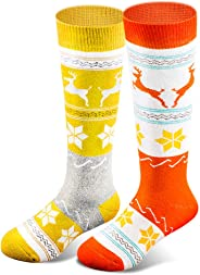 Kids Ski Socks for Boys Girls, Thick Warm for Winter Snow Skiing Snowboard Sports