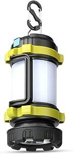 LED ランタン Changson 懐中電灯 キャンプ ランタン 200m遠距離照射 高輝度 USB充電式 パワーバンク 大容量 3 in1多機能 停電対策/登山/SOS防災/夜釣り/キャンプ アウトドア適用 PSE認証済