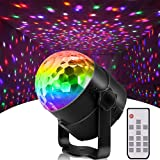 ミラーボール ステージライト LED ディスコボールライト 舞台照明 4W 6色変化 音声起動 リモコン付き, 演出 誕生日 結婚式 パーティー KTV カラオケ バー照明 舞台ライト