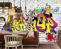 Yosot ホテルのレストランでは、カスタムの 3d 写真の壁紙ヨーロッパと米国ストリートグラフィティカラオケバーの落書きを描かれている。-200cmx140cm