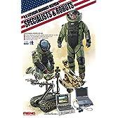 モンモデル 1/35 アメリカ爆発物処理作業者とロボット MENHS-003