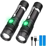 Rechargeable Flashlight, LED Tactical Flashlight, Karrong 1200 Lumens Super Bright Pocket-Sized T6 LED Torch with Clip, Water