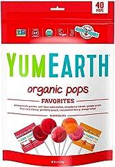 YUM EARTH Organic Lollipops 40+,Variety Pack, 248g