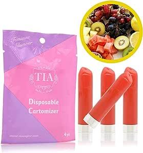 TIA ティア ビタミン入り 口紅型 電子タバコ 専用 フレーバーカートリッジ (フルーティーシェイク)