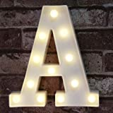 (Letter a) - LED Marquee Letter Lights Sign, Light Up Alphabet Letter for Home Party Wedding Decoration A