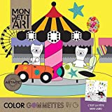 MonpetitArt Color Gommettes Fete -お祝い- 【シール付 ぬりえ 塗り絵 モンプチアート ゴメッツ ヒロ?コーポレーション】