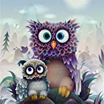 5D Diamond Painting by Number Kits, Full Drill DIY Crafts & Sewing Cross Stitch Wall Stickers for Living Room Decoration...