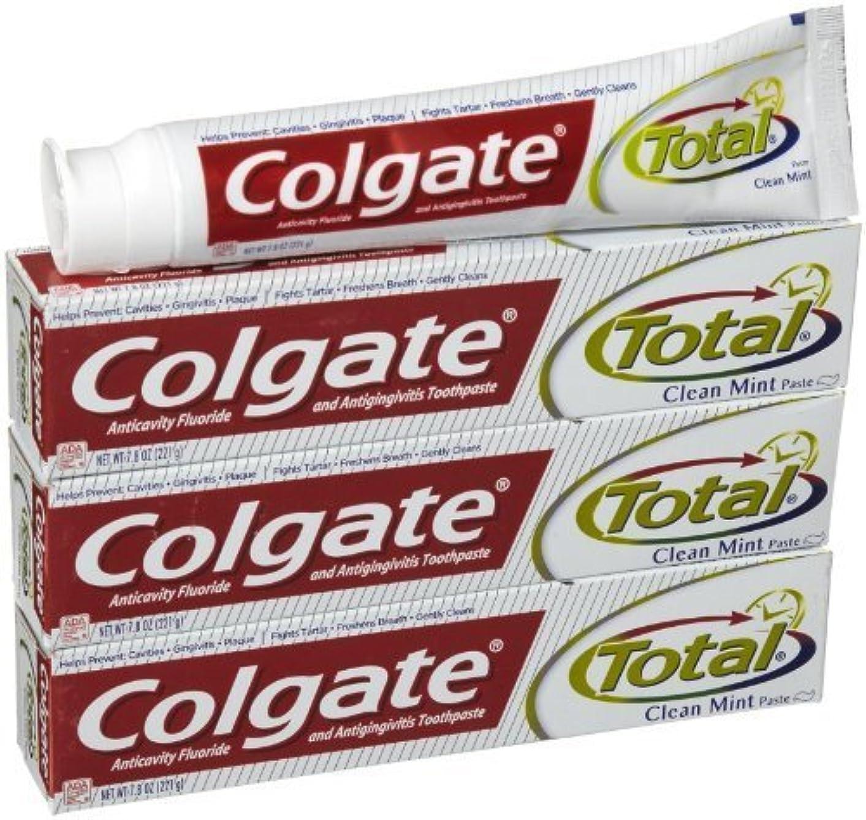 線形ハッピー染色コルゲート クリーンミント 歯磨き粉 7.8OZ-3個 Colgate Total Original Toothpast Clean mint