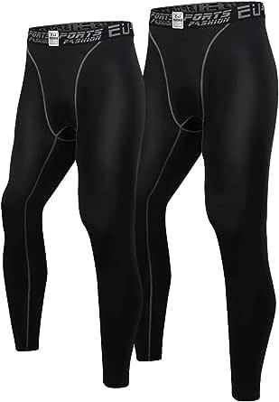 Nesseo スポーツタイツ メンズ コンプレッション ロング タイツ パワーストレッチ レギンス アンダー UVカット 吸汗 速乾 防寒