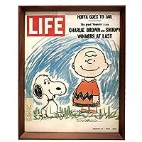 スヌーピー LIFE 表紙 1960年代 雑誌 ポスター アートフレーム 額付 SNOOPY