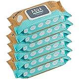 JAK Organics AQUA - Multi Pack- 100% Natural Organic Biodegradable Bamboo Water Wipes, 80 count, 6 Pack