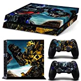 E-WORツョVinyl Sticker Skin For PS4 PlayStation 4 Console+Free 2 Controller Cover Decal TN-PS4-0051 (Bumblebee of Transformers) by E-WOR [並行輸入品]