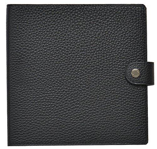 クオバディス 手帳 本革 カバー Taurillon トリオン 16x16cm ノワール qv16x1620no