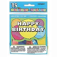 Happy Birthday Water Dart Balloons, Assorted 15ct