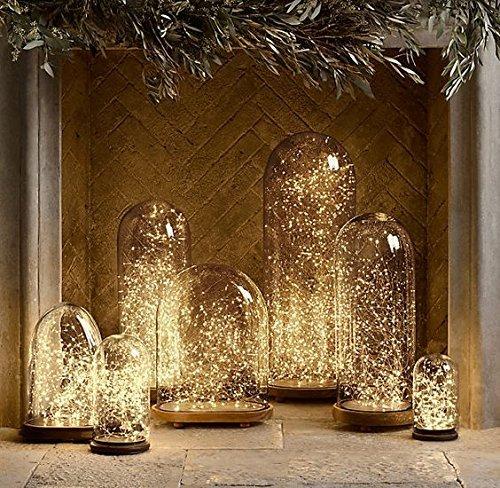FEFE LED星空ストリングライト( LED 100、33フィート、ウォームホワイト)銅ワイヤライトIdeal for DIY飾りロープライト季節装飾のクリスマス休暇、結婚式、パーティー