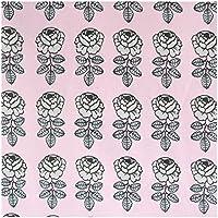 marimekko VIHKIRUUSU 生地 No-390 【64819】(約幅145×高さ100cm) ピンク×グレー マリメッコ ヴィヒキルース ファブリック