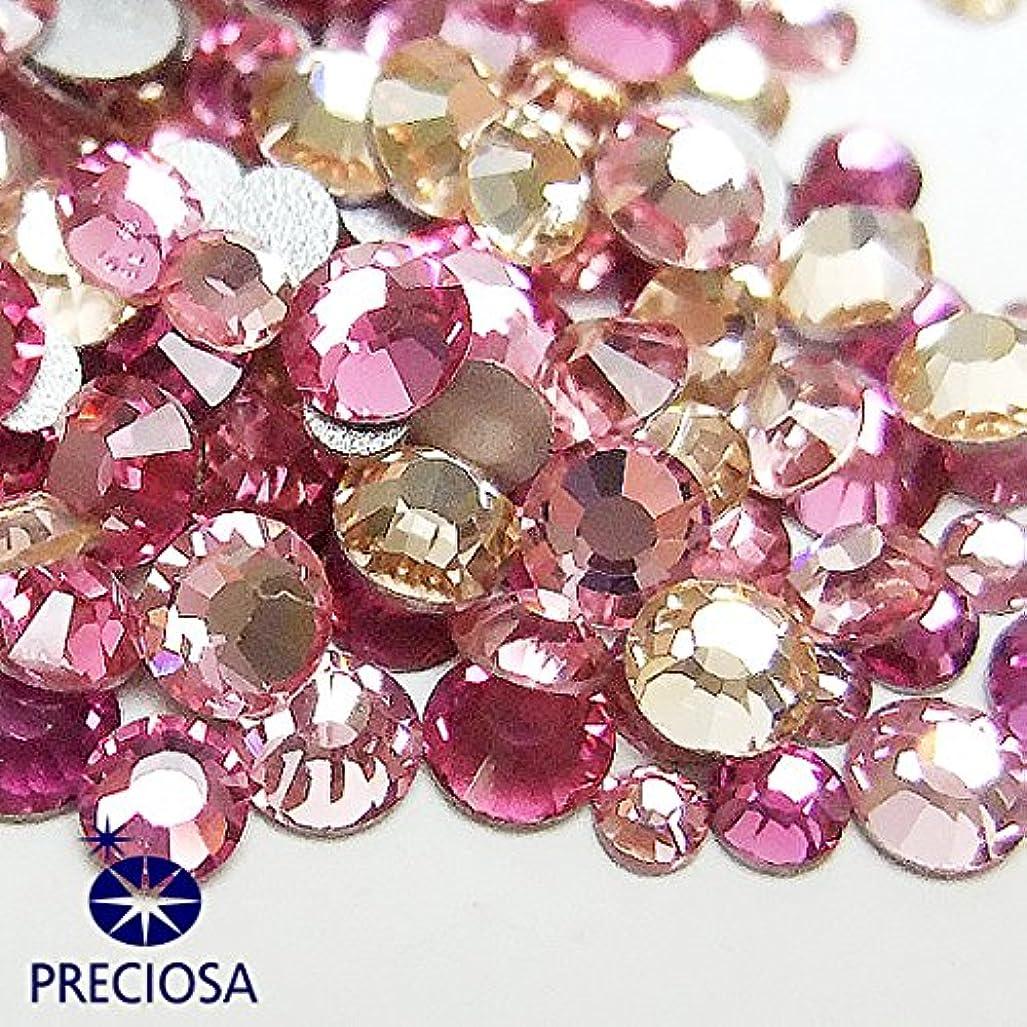 以下くつろぎ鳴り響くプレシオサ(PRECIOSA) チェコ製ラインストーン【お試しMIX】 ピンク系 160粒入